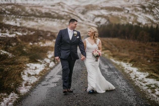 wedding during Storm Jorge