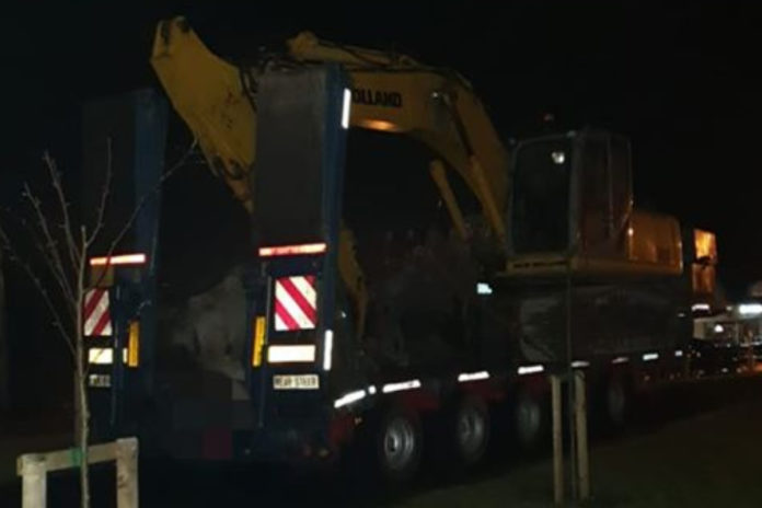 Low-loader 'nearly 16 tonnes overweight' stopped by Gardaí