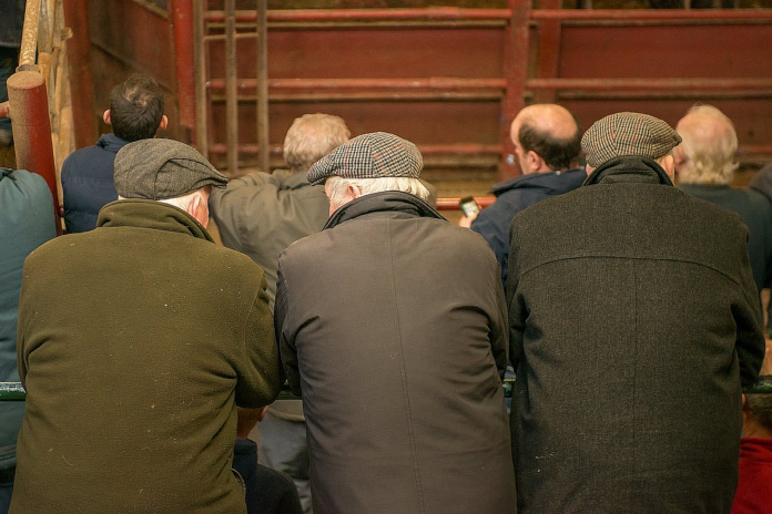 Farmers at the Mart - Mart viewing gallery