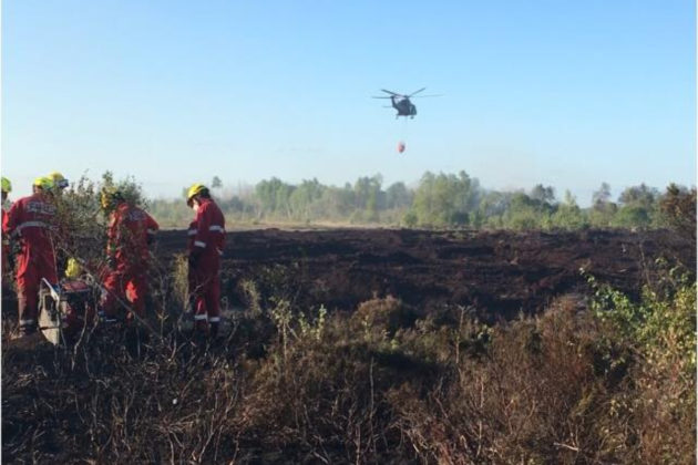 Air Corps called in to assist with bog fire