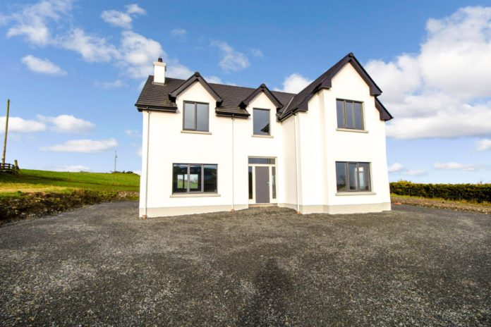 4-bedroom detached two-storey residence on almost one-acre in Ralaghan, Shercock, Co. Cavan for €199,000.