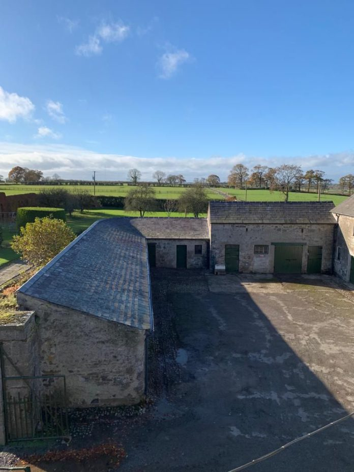 2020 Traditional Farm Buildings Scheme: Stable yard and overhead grain store/loft restored. Courtyard at Culmullin House Farm, Meath dates back to the late 18th century.