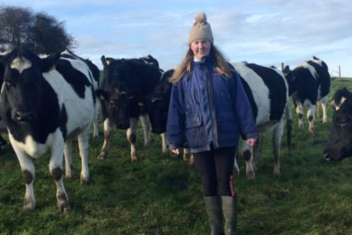 Clodagh Sherman (20), Galmoy, Co. Kilkenny, lives on a dairy farm and studies agricultural science at University College Cork.