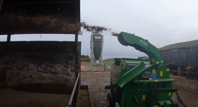 McHale C460-Trailed Silage Feeder and Straw Blower.