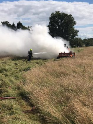 Fire causes damage to tractor