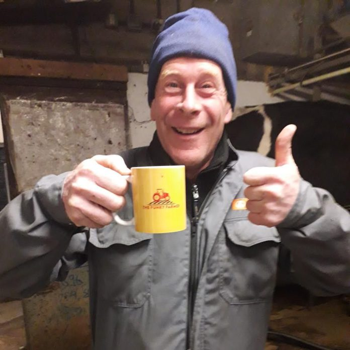 Richard Cornock from Gloucestershire runs a dairy farm and The Funky Farmer YouTube channel. He has also published A Year on a Dairy Farm.