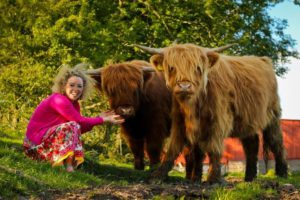 Michelle Shaughnessy, Highland cattle, Longford