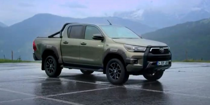 Toyota Hilux, jeep, vehicle, driving