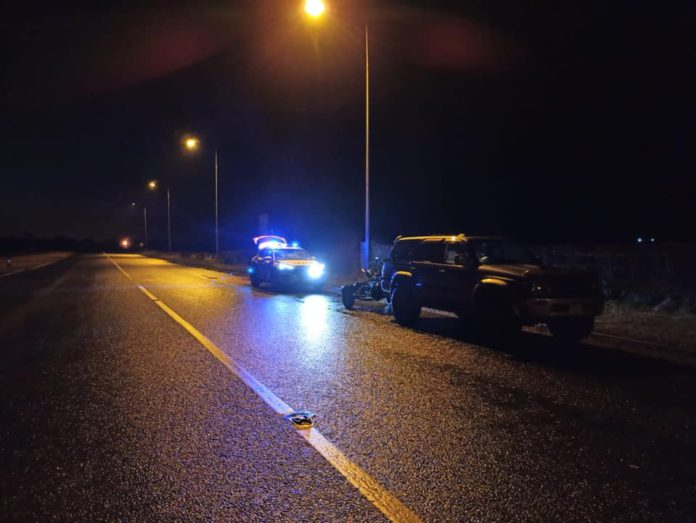 Jeep driver, Gardaí, road,