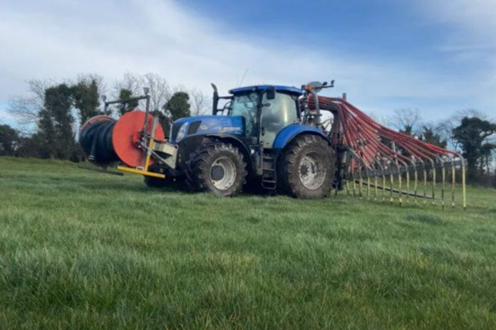 Slurry spreading, machinery, tractors