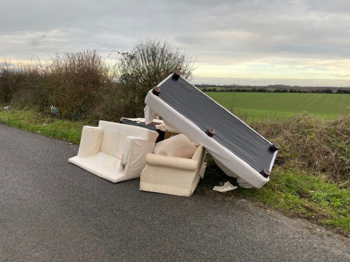 Fly-tippers, field,