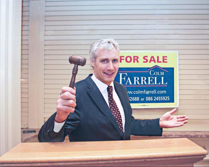 Colm Farrell, livestock auctioneering