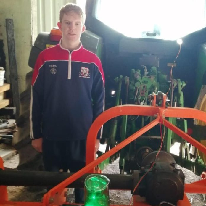 Cathal O'Sullivan, farm safety device, machinery