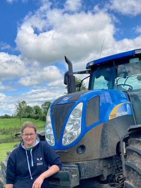 Daphne Scott, tractor, farmer