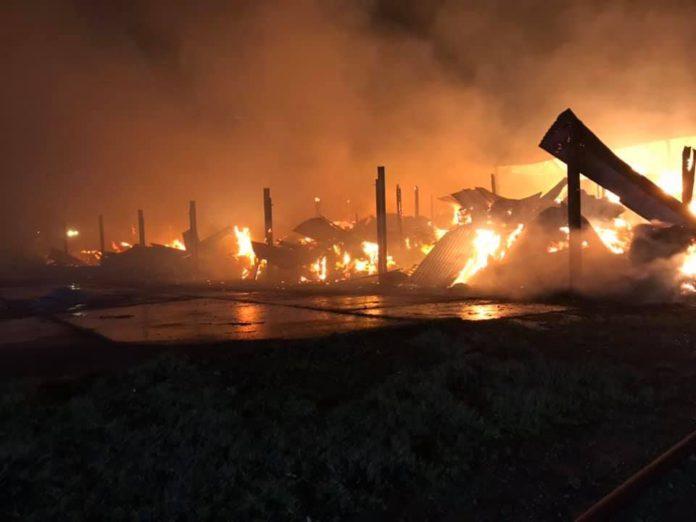 Taunton Fire Station, barn fire, fire service, firefighters