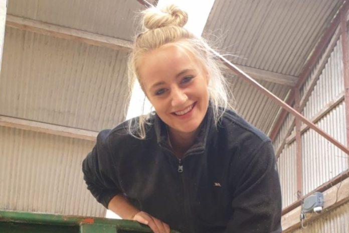 farm girl, sheep, cattle, livestock, women in ag, Ashleigh Hall, young farmer