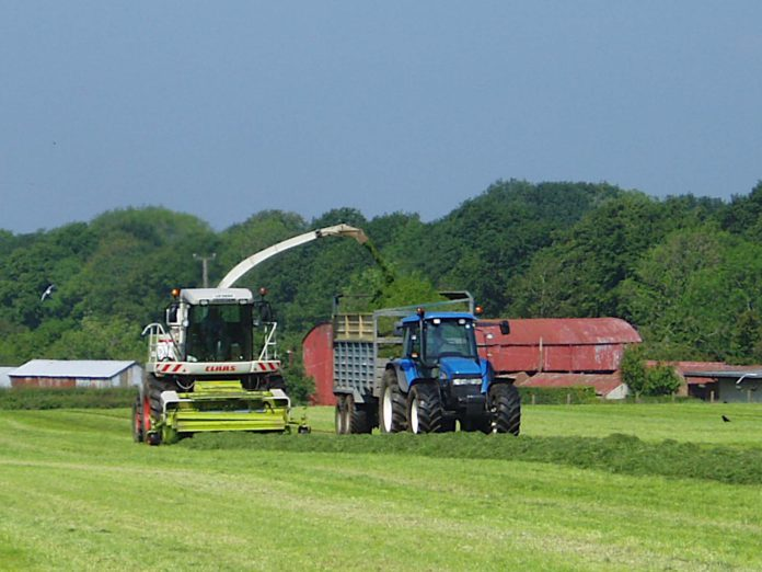 First-cut silage, silage, silage harvesting, tractors, machinery