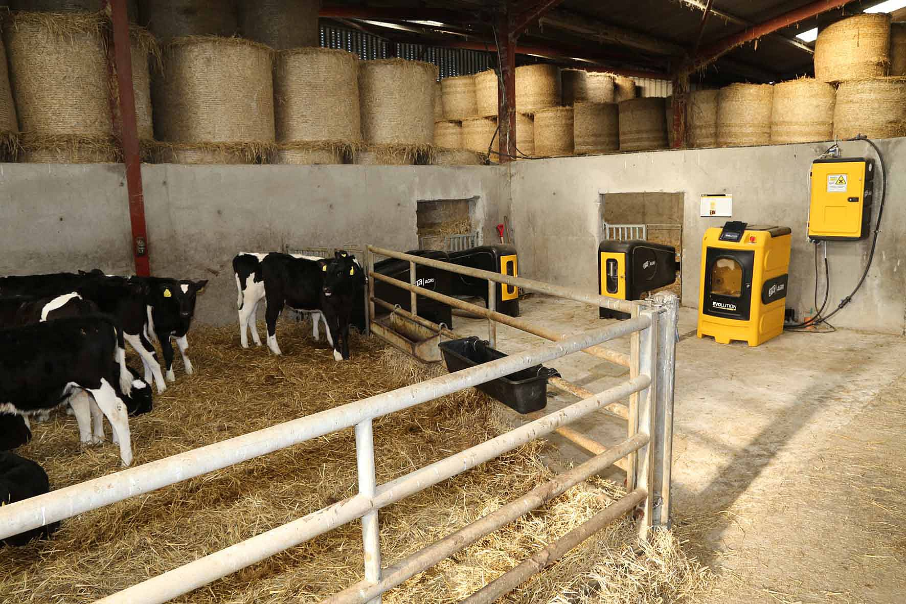 calf shed, calf rearing, calf feeding, JFC Agri Evolution S4 automatic calf feeder