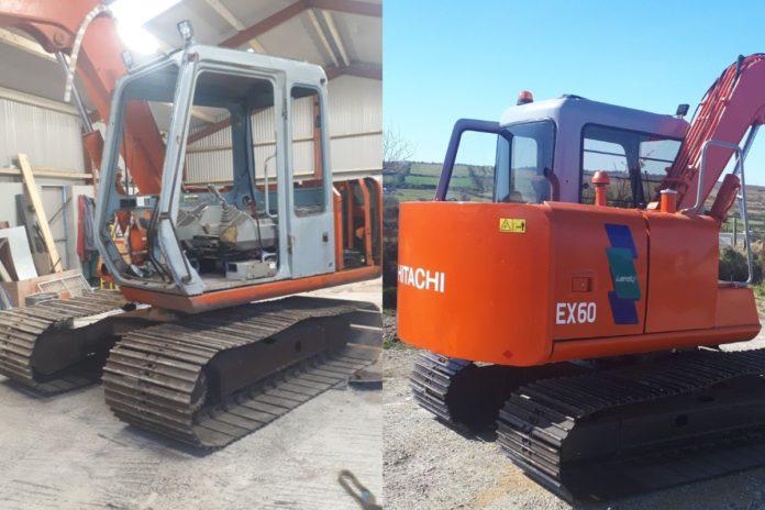 Hitachi Ex60-3, restoring a digger, machinery,