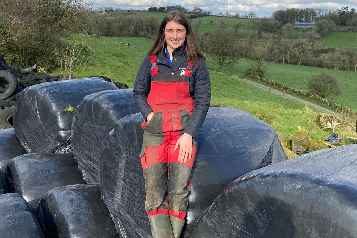 AgriNet HerdApp: Ciara Byers, calving 2021, farm girl, women in ag,