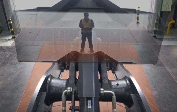 wheel loader 'transparent bucket' system.