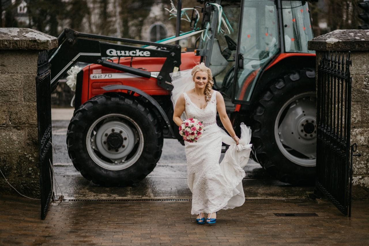 Denise Sweeney, farm girl, tractor