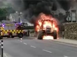 Tipperary tractor fire, farming news, farming news Ireland, machinery, tractor videos
