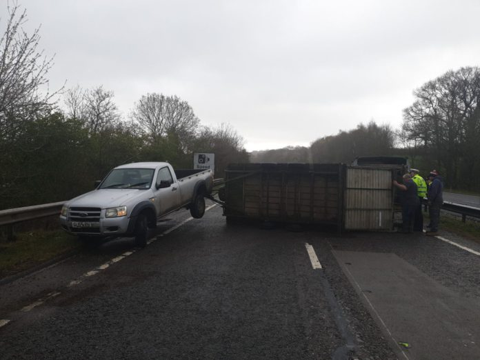 jeep and trailer, farming news UK, road traffic collision