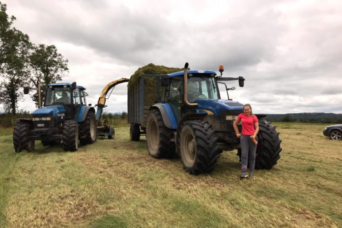 Karen O'Connor, machinery, farm girl, women in ag, New Holland