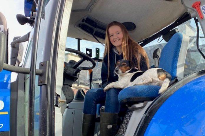Rachel Boyce, women in ag, farm girls, New Holland, tractors,