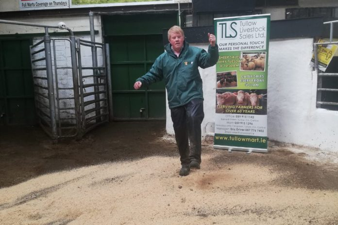 Eric Driver, Tullow Mart, cattle prices, beef prices, mart reports, mart prices