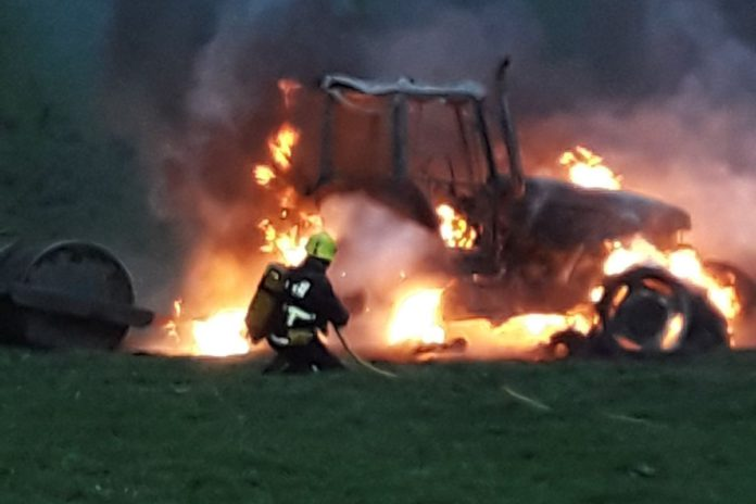 Cavan County Fire Service, tractor fire, machinery, farm machinery news, farming news, Ireland