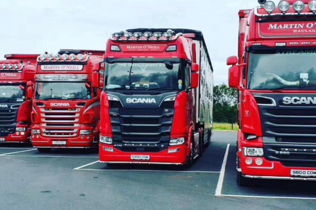 Martin O'Neill Haulage, livestock haulier, livestock haulage, farming news