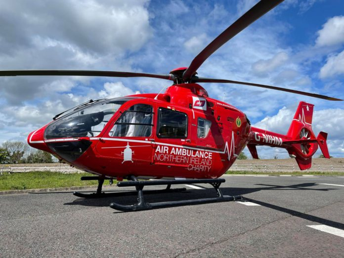 Air Ambulance Northern Ireland, farm accident,
