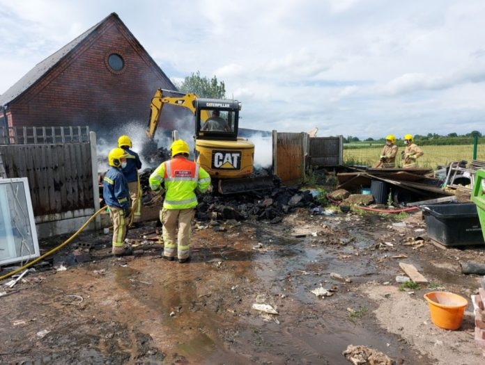 Staffordshire Fire and Rescue, farm fire, tractor fire, farming news UK