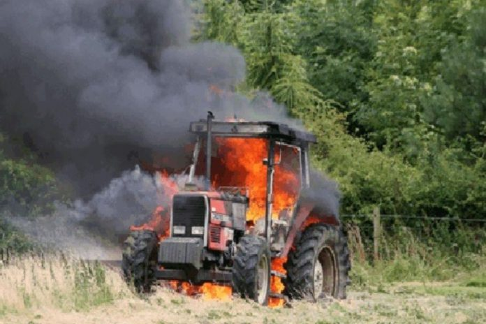 tractor fire, farm machinery fire, farming news