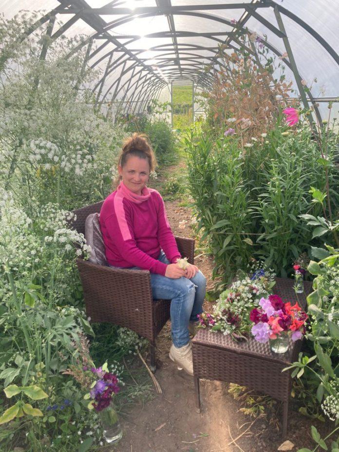 Flower farmer, Ali Franks of Clonakenny Flower Farm,
