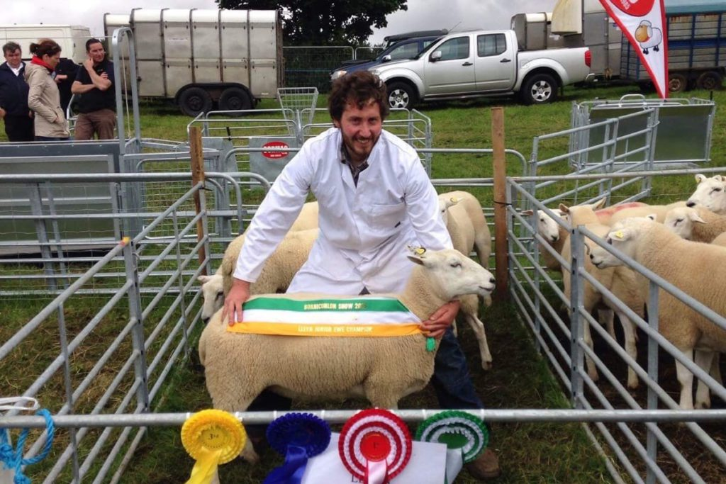 Lleyn sheep breeder, David Beattie, discusses farming 300 ewes, delivering 1.8 lambs per ewe, producing 600 live lambs with a Scottish ram,
