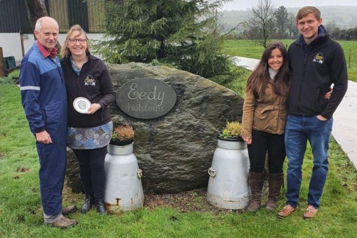 Robert, Sylvia & son, Jason Helen, farm a 90-cow Holstein Friesian pedigree herd, Eedy in County Cork