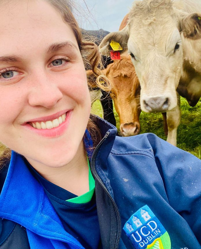 Limerick native, Susan O'Riordan (22), the daughter of a vet, is a veterinary medicine student at UCD (University College Dublin).