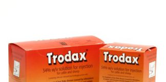 Boehringer Ingelheim Animal Health has ceased the production of TRODAX® 340 mg/ml Solution for Injection, containing nitroxynil, for the European market. Cattle and sheep farmers use TRODAX® to treat the mature and late-immature stages of the liver fluke Fasciola hepatica.