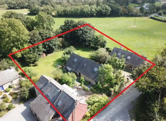 Hitting the market with a €420,000 guide price is Carrickshock Farmhouse & Cottage for sale in Carrickshock, Knockopher, Co Kilkenny.